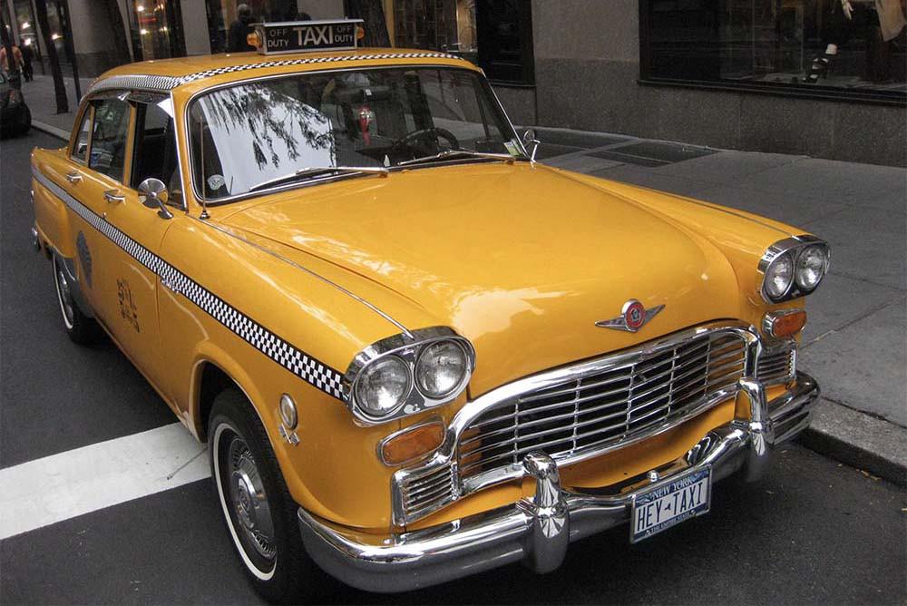1972 New York Yello Checker Taxicab
