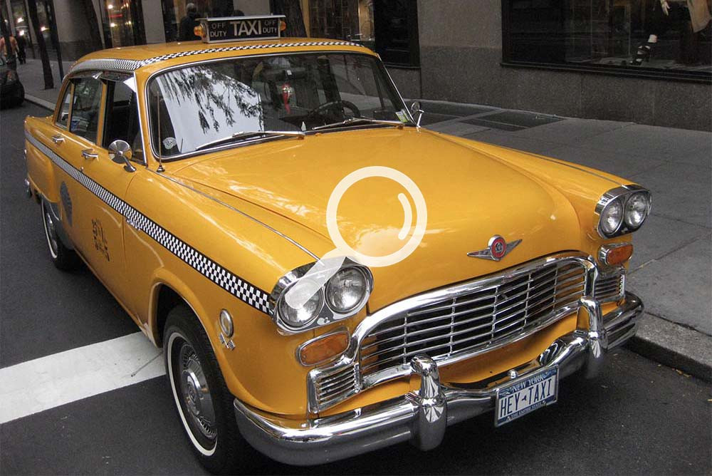 1972 New York Yellow Checker Taxicab