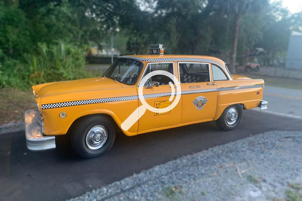 1972 New York Yellow Checker Taxicab